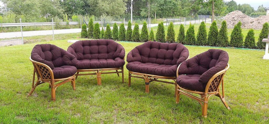 Poduszki na fotele ratanowe